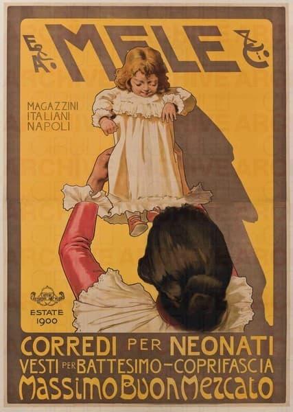 E. & A. Mele & Ci. Napoli. Corredi per neonati
