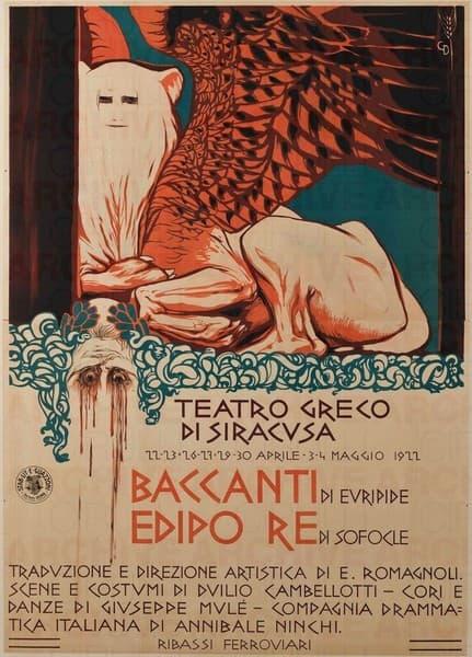 Teatro Greco di Siracusa, Baccanti di Euripide, Edipo Re di Sofocle