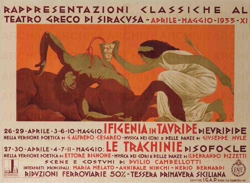 """Teatro Greco di Siracusa """"Ifigenia in Tauride"""" di Euripide """"Le Tranchinie"""" di Sofocle"""