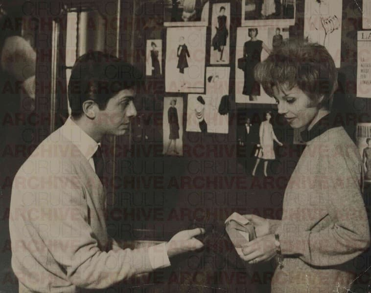 Valentino at his first fashion house in via Condotti