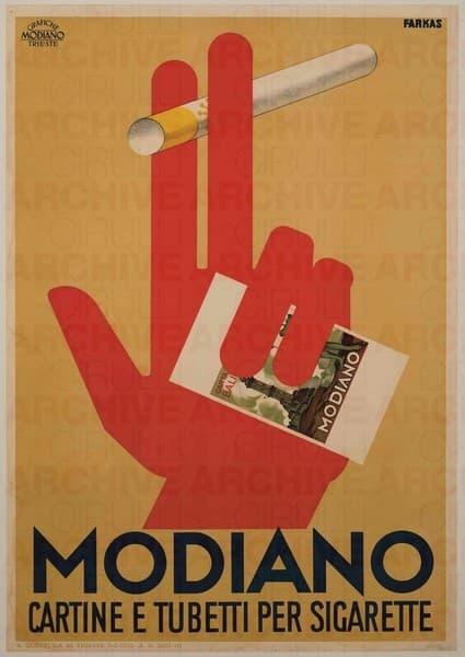 Modiano. Cartine e tubetti per sigarette