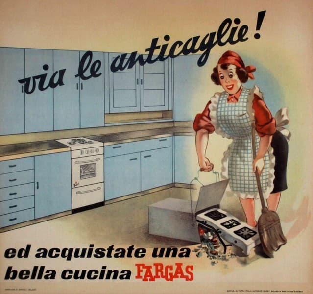 Via le anticaglie e acquistate una bella cucina Fargas
