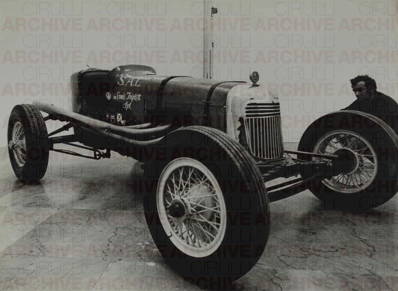 S.A.L. Ernie Triplett Special. Salvatore Scarpitta with one of his race cars