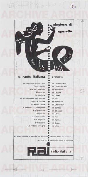 Rai Radio Italiana Stagione di Operette