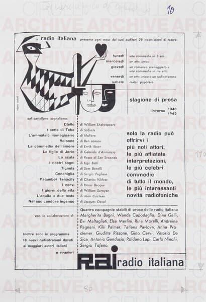 RAI Radio Italiana Stagione di prosa 1948-1949