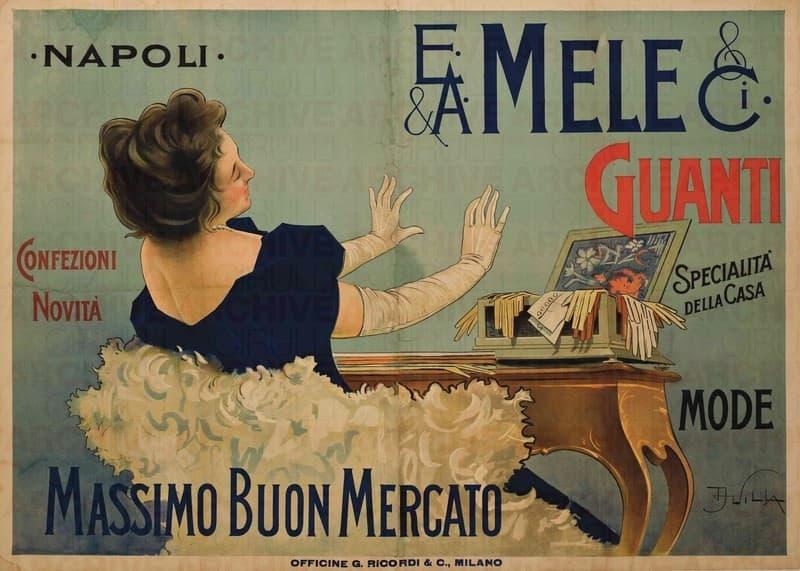 E. & A. Mele & Ci. Napoli. Guanti