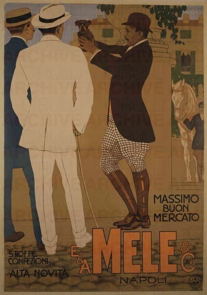 E. & A. Mele & Ci. Napoli. Stoffe confezioni alta novità
