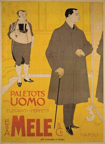 E. & A. Mele & Ci. Napoli. Paletots per uomo
