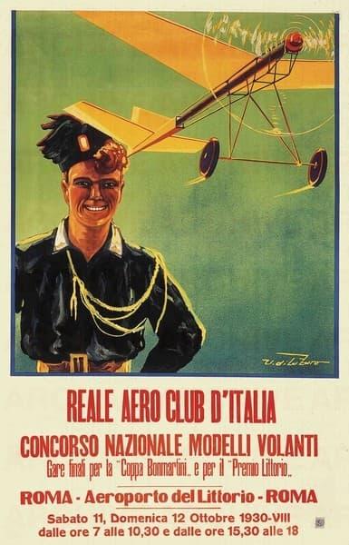 Reale Aero Club d'Italia Concorso Nazionale Modelli Volanti Coppa Bonmartini