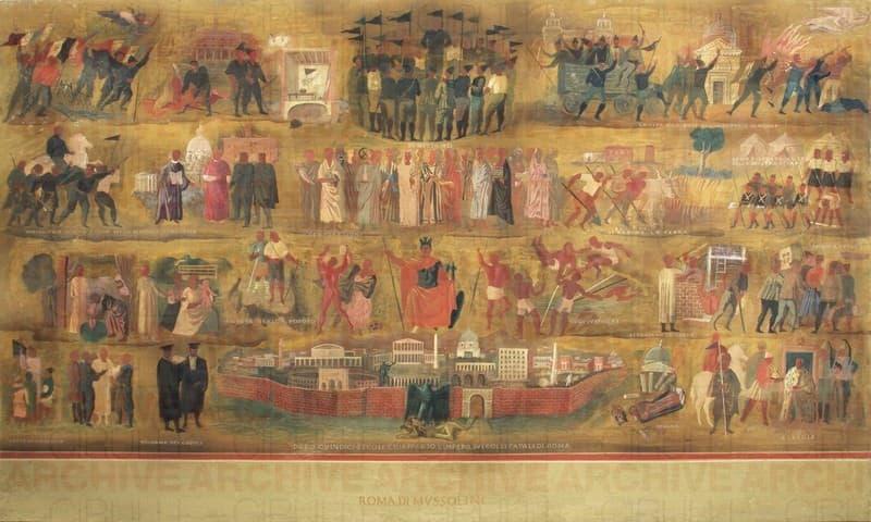 Studio per gli affreschi del Palazzo dei Congressi