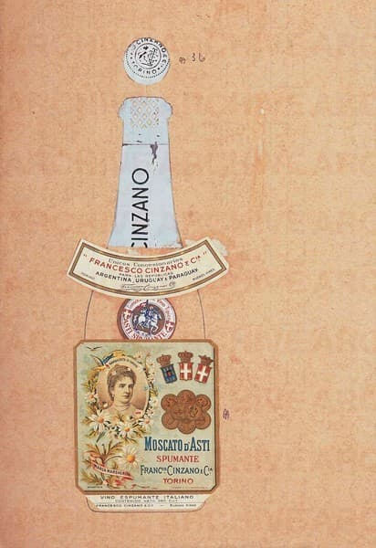 Cinzano Moscato D'Asti Spumante. Studio per packaging