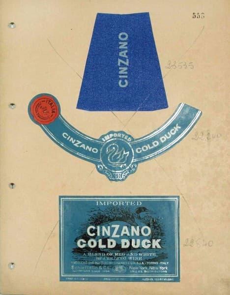 Cinzano Gold Duck. Studio per packaging