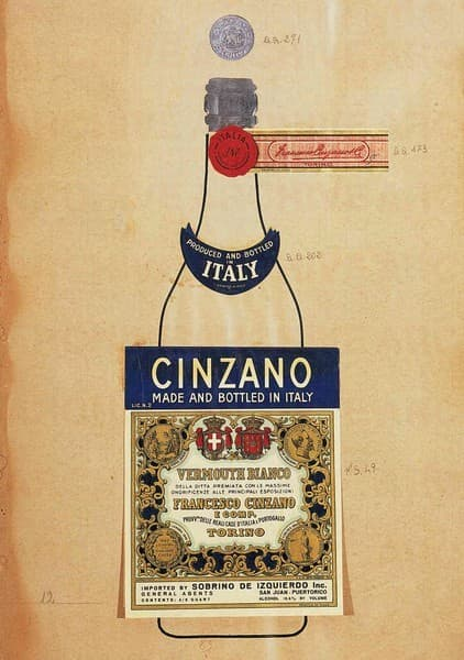 Cinzano Vermouth Bianco. Studio per packaging