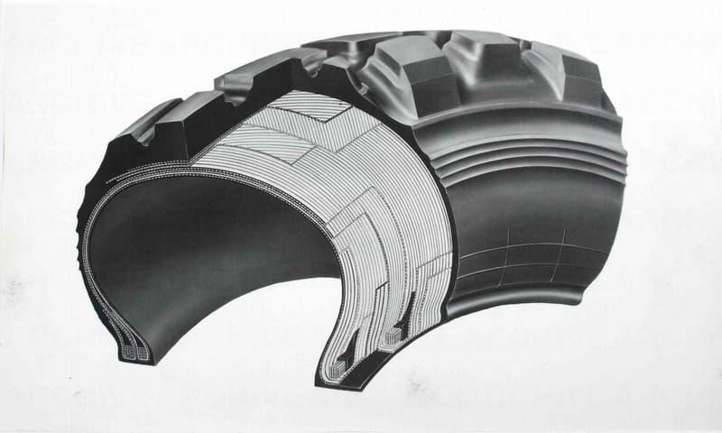 Progetto per disegno tecnico industriale. Sezione di pneumatico Pirelli